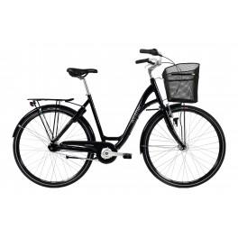 Winter Shopping dame cykel deep black