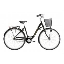 Winter Shopping dame cykel deep green